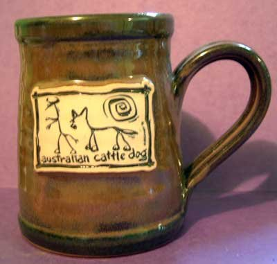 Australian Cattle Dog Cavern Canine Breed Stoneware Mug McCartney NEW