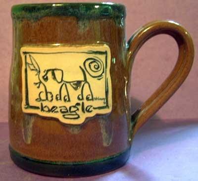 Beagle Cavern Canine Dog Breed Stoneware Mug Cup McCartney - NEW