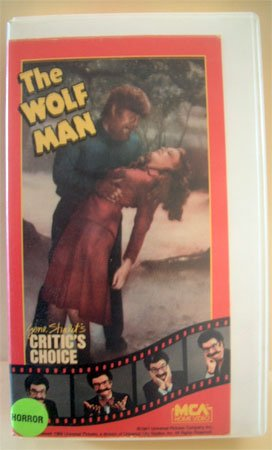 VHS Movie The Wolf Man Lon Chaney Jr.