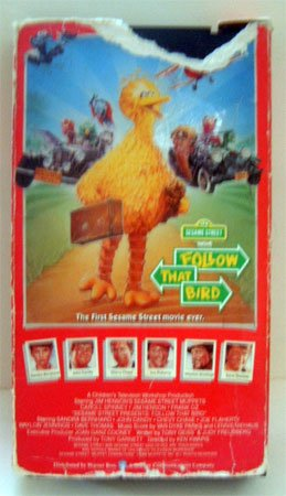 VHS Movie Sesame Street Follow That Bird