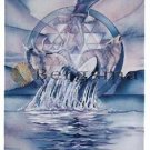 Jody BERGSMA Art Card Print : Doorway to the Four Elements Earth Air Fire Rain