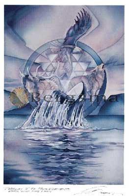 Jody BERGSMA Art Card Print : Doorway to the Four Elements Earth Air Fire Rain
