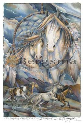 Jody BERGSMA Art Card Print : The Dream Creates the Journey