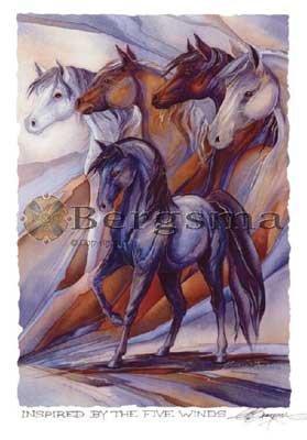 Jody BERGSMA Art Card Print : Inspired By the Five Winds