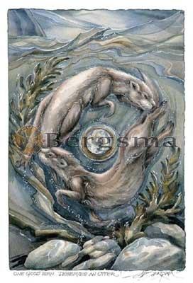 Jody BERGSMA Art Card Print : One Good Turn Deserves An Otter!