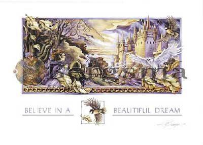 Jody BERGSMA Art Card Print : Believe in a Beautiful Dream