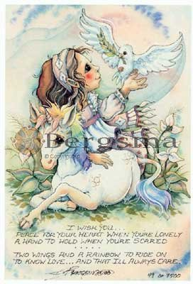 Jody BERGSMA Art Card Print : I Wish You Peace ...