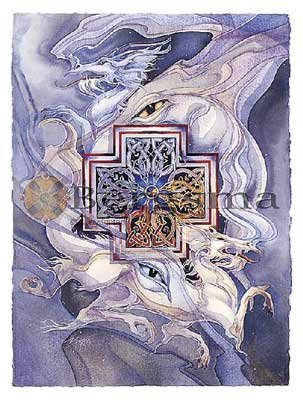 Jody BERGSMA Art Card Print : Never Cross A Dragon!