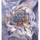 Jody BERGSMA Art Card Print : Never Cross A Dragon!