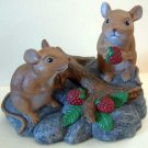 Mice in Raspberry Patch Mouse Indoor Outdoor Decoration