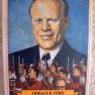 VINTAGE PHOTOGRAPH 14 : Gerald Ford Presidential Trading Card