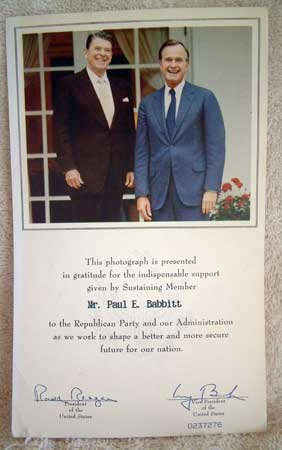 VINTAGE PHOTOGRAPH 12 : President Reagan & Bush Publicity Photo