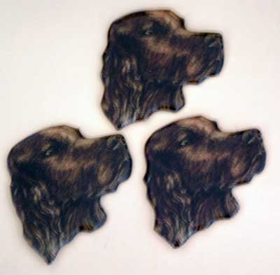 Irish Setter Magnets Puffy Soft Set of 3 NWT