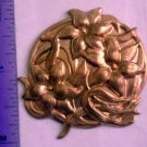 Lily Flower Raw Brass Jewelry Craft Altered Art Clay Mold Design