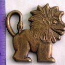 Animal Cracker Lion Raw Brass Jewelry Craft Altered Art Clay Mold Design