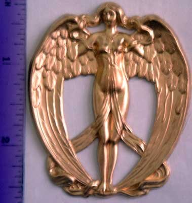 Angel Wings Raw Brass Jewelry Craft Altered Art Clay Mold Design