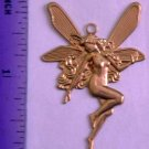 Fairy Fantasy Raw Brass Jewelry Craft Altered Art Clay Mold Design