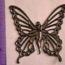 Filigree Butterfly Fairy Silver Oxide Jewelry Craft Altered Art Clay Mold Design
