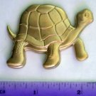 Turtle Whimsical Raw Brass Jewelry Craft Altered Art Clay Mold Design