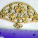 Floral Fan Raw Brass Jewelry Craft Altered Art Clay Mold Design