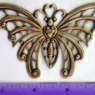 Moth XL Butterfly Gothic Raw Brass Jewelry Craft Altered Art Clay Mold Design