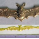 Bat Lg Raw Brass Jewelry Craft Altered Art Clay Mold Design