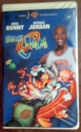 VHS Movie SPACE JAM Michael Jordan Bugs Bunny Clamshell Case