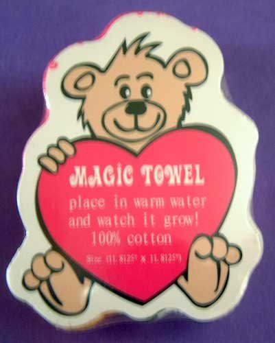 Bear & Heart Love Magic Towel