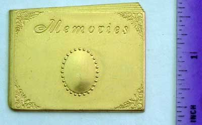 Memory Book Raw Brass Jewelry Craft Altered Art Clay Mold Design