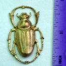 Scarab Beetle Bug Raw Brass Jewelry Craft Altered Art Clay Mold Design