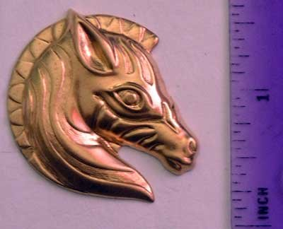 Zebra Raw Brass Jewelry Craft Altered Art Clay Mold Design