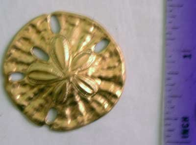 Sand Dollar Raw Brass Jewelry Craft Altered Art Clay Mold Design