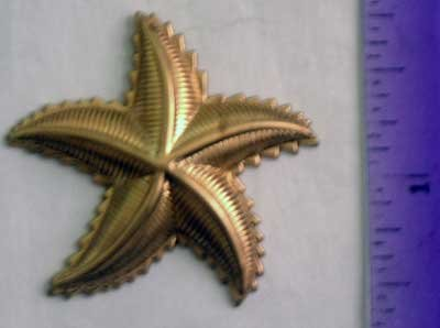 Star Fish Raw Brass Jewelry Craft Altered Art Clay Mold Design