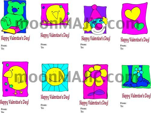Classroom VALENTINE Cards - You Print Quantity Needed! No Shipping!