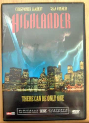 DVD Movie HIGHLANDER Sean Connery