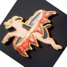Jack Russel Terrier Fire Hoop Pin by WM Spear Design