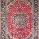 10'x14' Large Red Floral Hand Knotted Silk Area Rug/Carpet