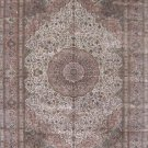 10'x14'Brown Traditional Hand Knotted Persian Oriental Silk Area Rug/Carpet