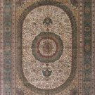 10'x14'Large Beige Quem Hand Knotted Traditional Silk Area Rug/Carpet 22