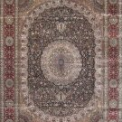 9'x12'Red Floral Hand Knotted Traditional Silk Area Rug/Carpet 21