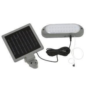 designers edge l 949 10 led rechargeable solar panel shed