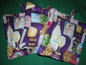 Potholders grapes theme