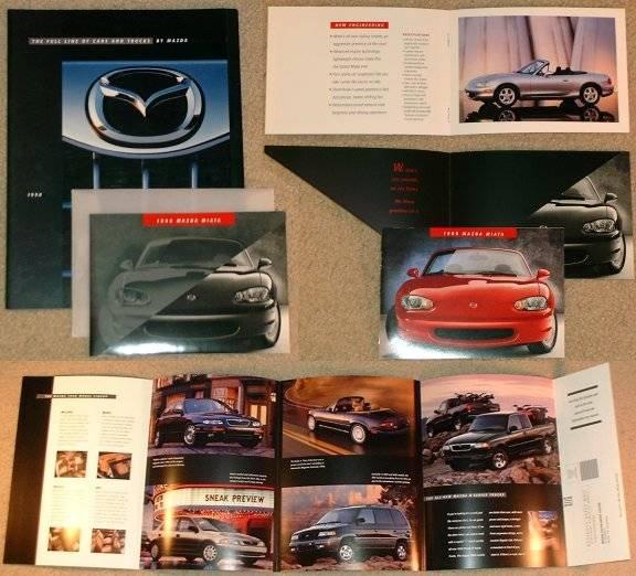 Mazda '98 Full Line and 2nd Gen MX-5 Miata brochures