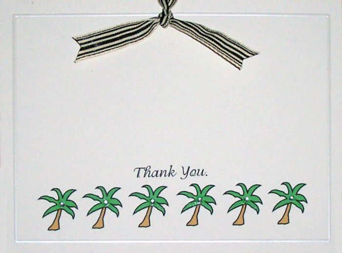 50 Qty. Palm Tree Thank You Cards