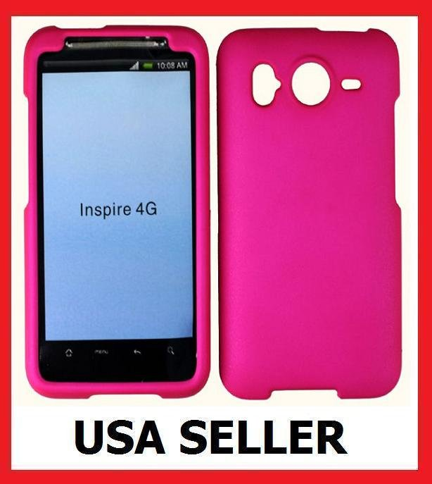 HTC Inspire 4G Faceplate Hard Cover Case HOT PINK