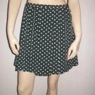 Agnis Anges B. Green Polkadot Pleated Mini Skirt 36