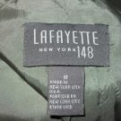 Lafayette 148 Green Wool Silk Blend Blazer Jacket 8 M