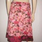 Snak Anthropologie Roses Cotton Aline Skirt 4 S Small
