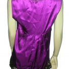 NWT John GALLIANO Silk Purple Chettah Top Shirt 44 12 L