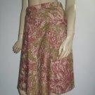 Corey Lynn Calter Vintage Print Knee Length Skirt 2 XS